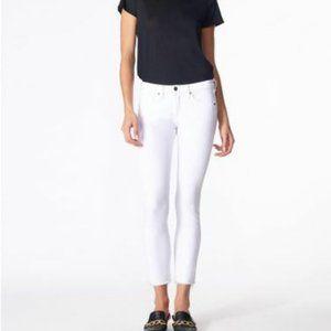 NWT Veronica Beard Brooke White Skinny Jeans